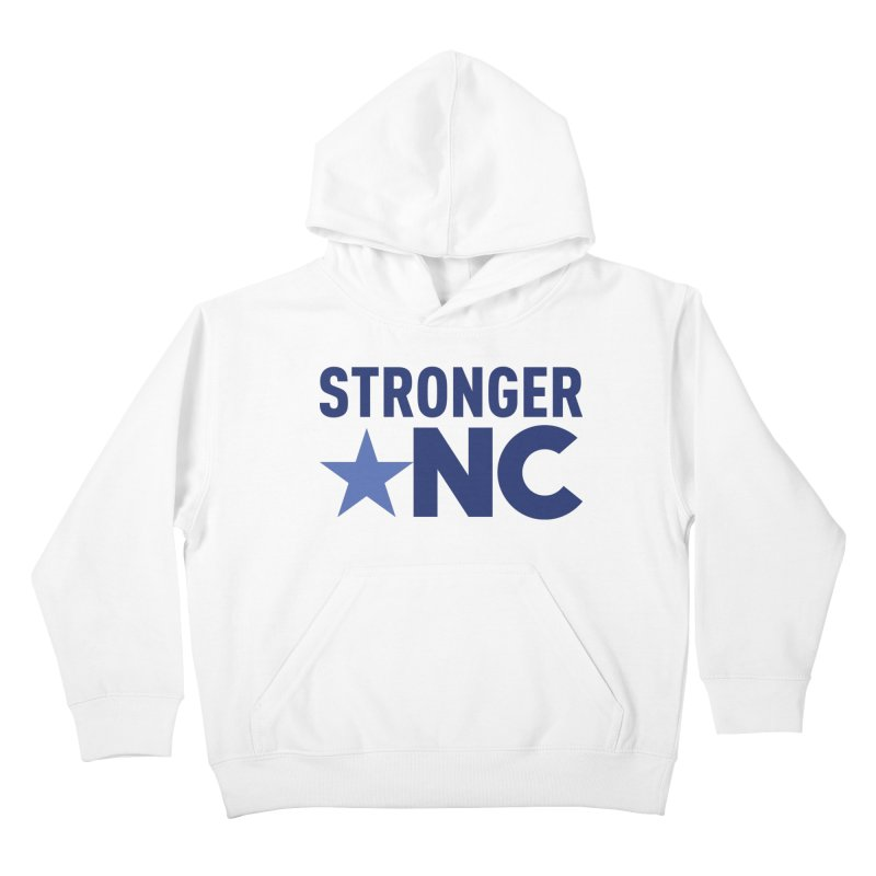 StrongerNC Navy Logo Kids Pullover Hoody by Stronger NC