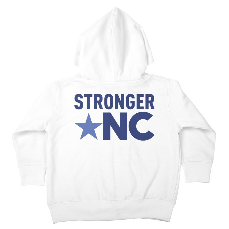 StrongerNC Navy Logo Kids Toddler Zip-Up Hoody by Stronger NC