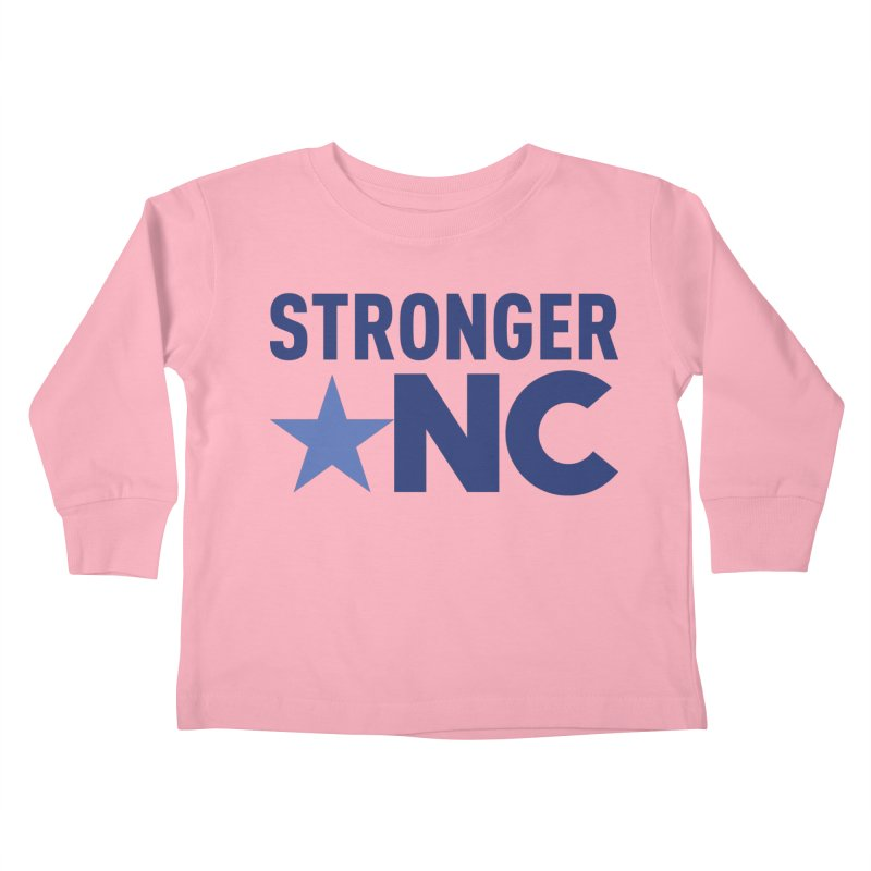 StrongerNC Navy Logo Kids Toddler Longsleeve T-Shirt by Stronger NC