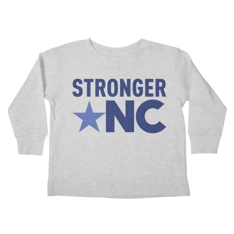 StrongerNC Navy Logo Kids Toddler Longsleeve T-Shirt by Stronger NC