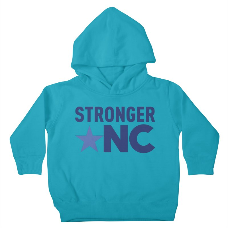 StrongerNC Navy Logo Kids Toddler Pullover Hoody by Stronger NC