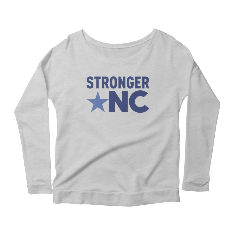 StrongerNC Navy Logo Women's Longsleeve T-Shirt by Stronger NC