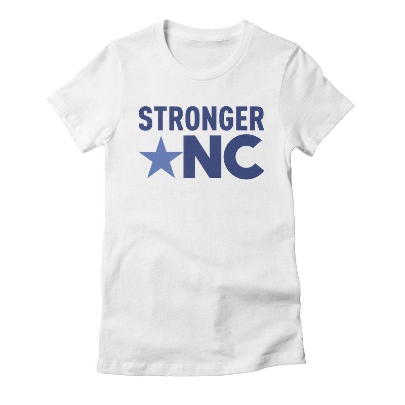 StrongerNC Navy Logo Women's T-Shirt by Stronger NC