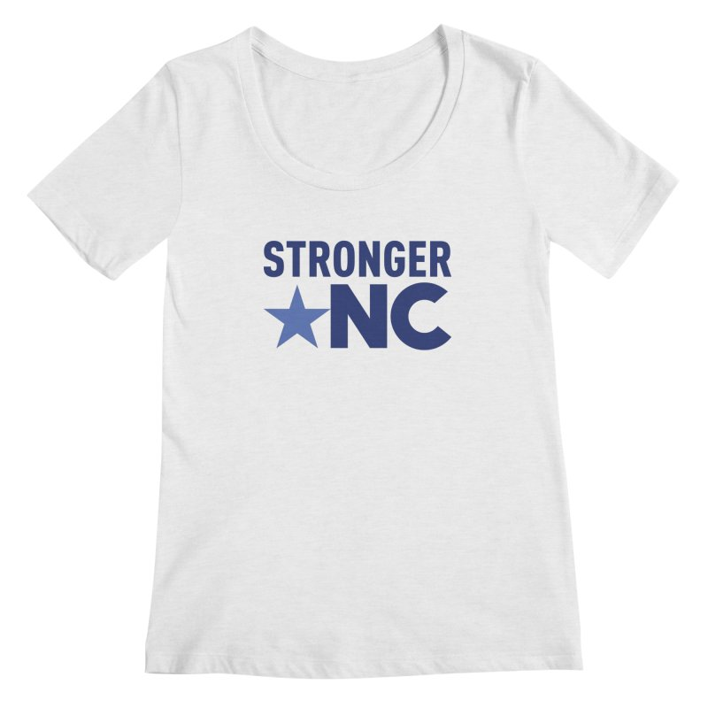 StrongerNC Navy Logo Women's Scoop Neck by Stronger NC