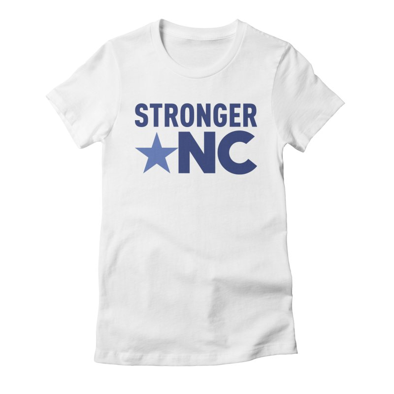 StrongerNC Navy Logo Women's Fitted T-Shirt by Stronger NC