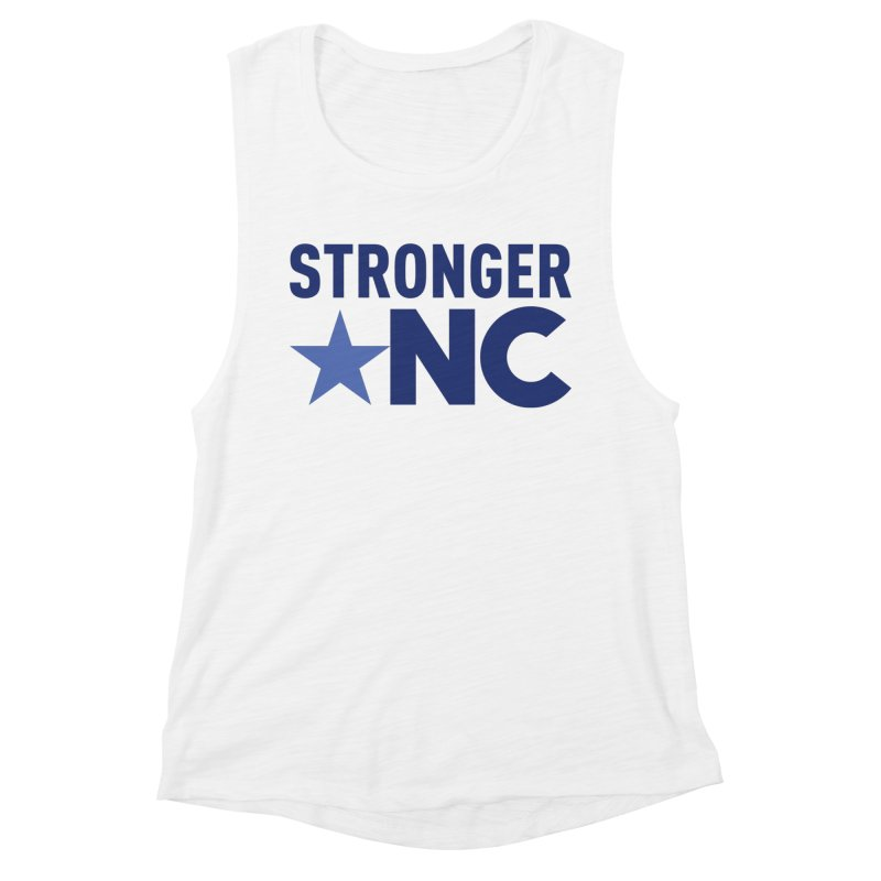 StrongerNC Navy Logo Women's Muscle Tank by Stronger NC