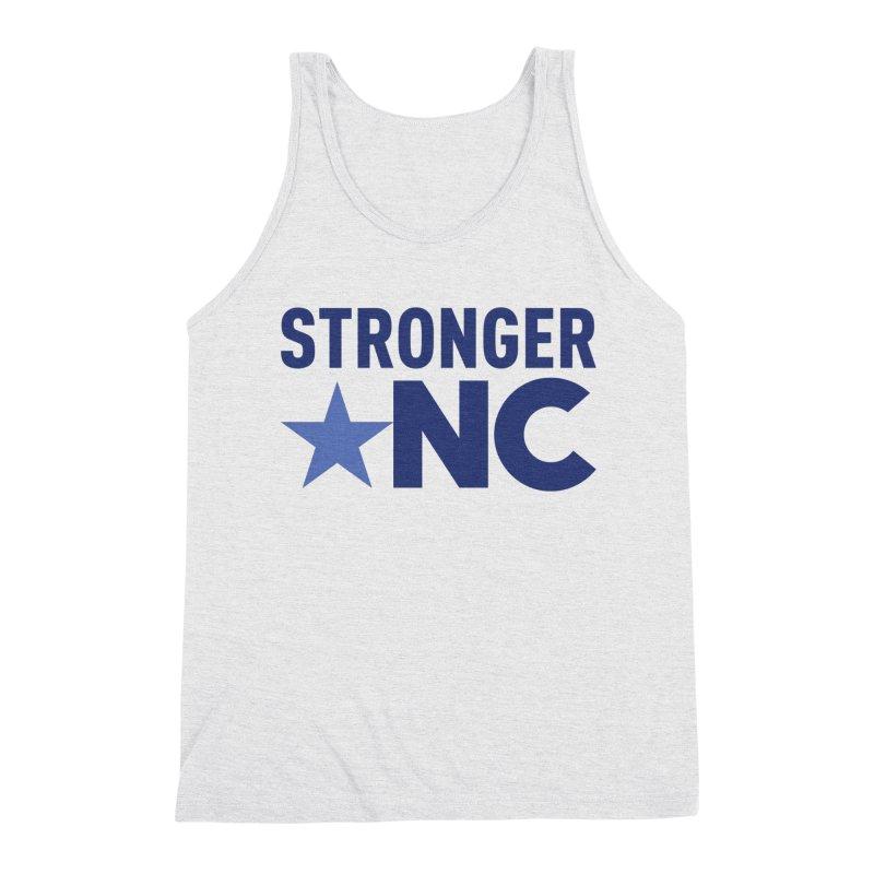 StrongerNC Navy Logo Men's Triblend Tank by Stronger NC