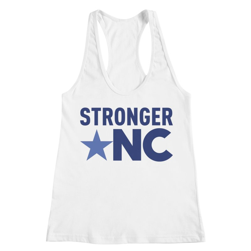 StrongerNC Navy Logo Women's Racerback Tank by Stronger NC