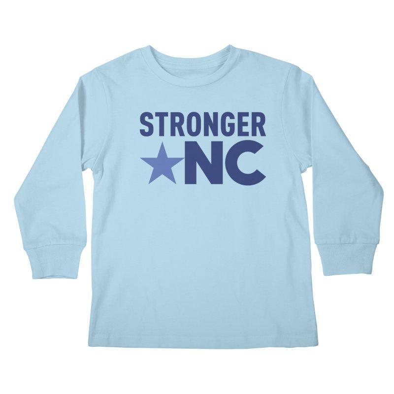 Stronger NC Color Logo Kids Longsleeve T-Shirt by Stronger NC