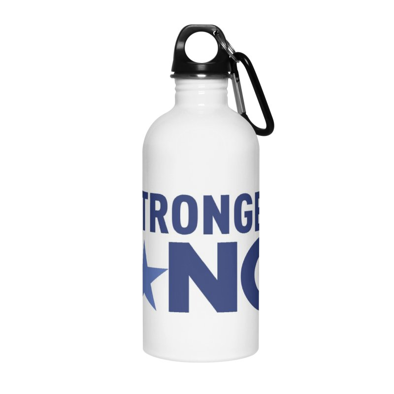 StrongerNC Navy Logo Accessories Water Bottle by Stronger NC