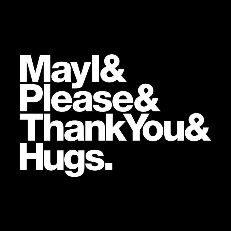 MayI&Please&ThankYou&Hugs. (black) Kids Baby Longsleeve Bodysuit by Johnathon Strube Artist Shop