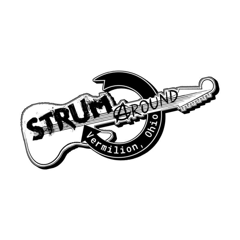 Strum Around  VIP shirt Home Mounted Aluminum Print by strumaround's Artist Shop