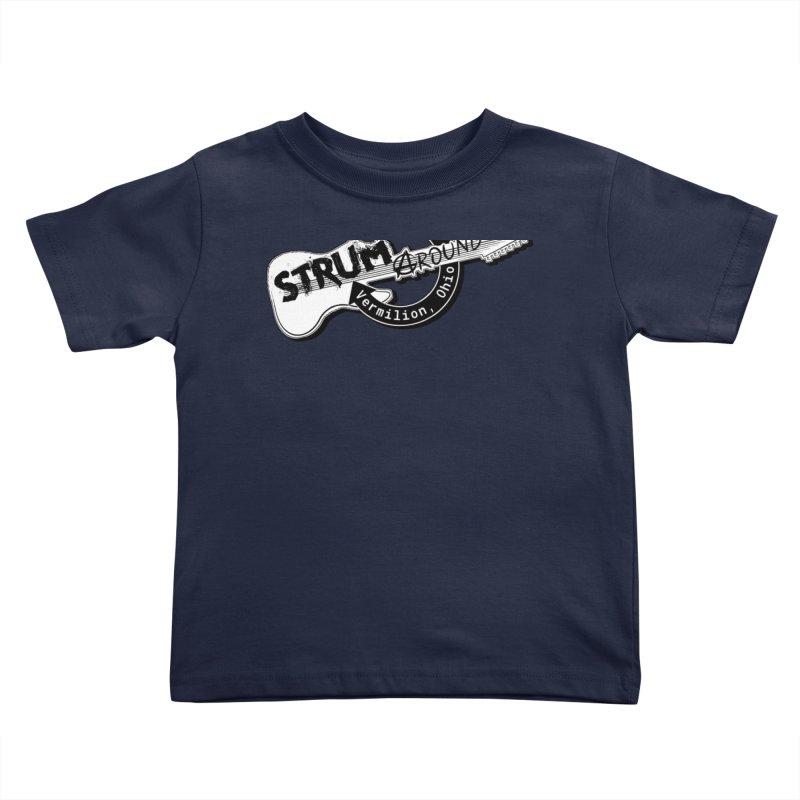 Strum Around  VIP shirt Kids Toddler T-Shirt by strumaround's Artist Shop