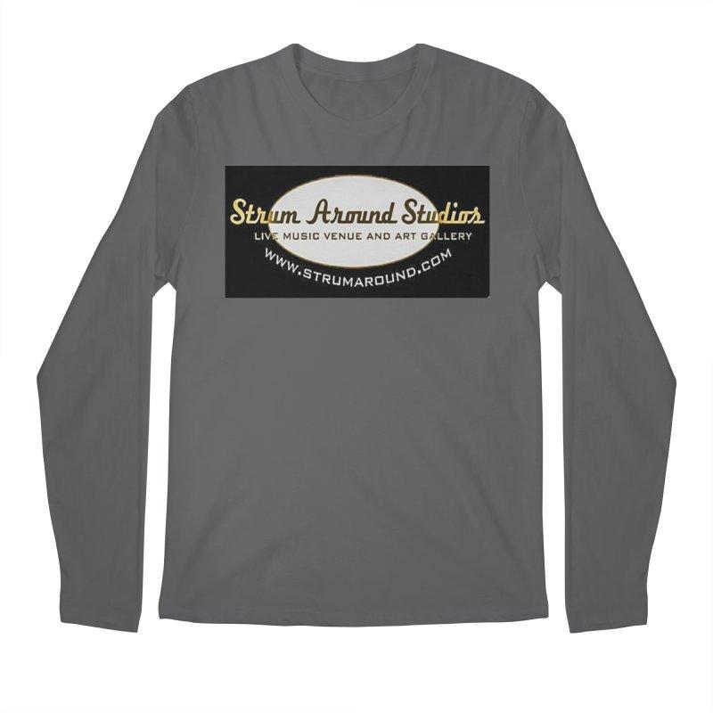 Strum Around Studio (LOGO) Men's Longsleeve T-Shirt by strumaround's Artist Shop
