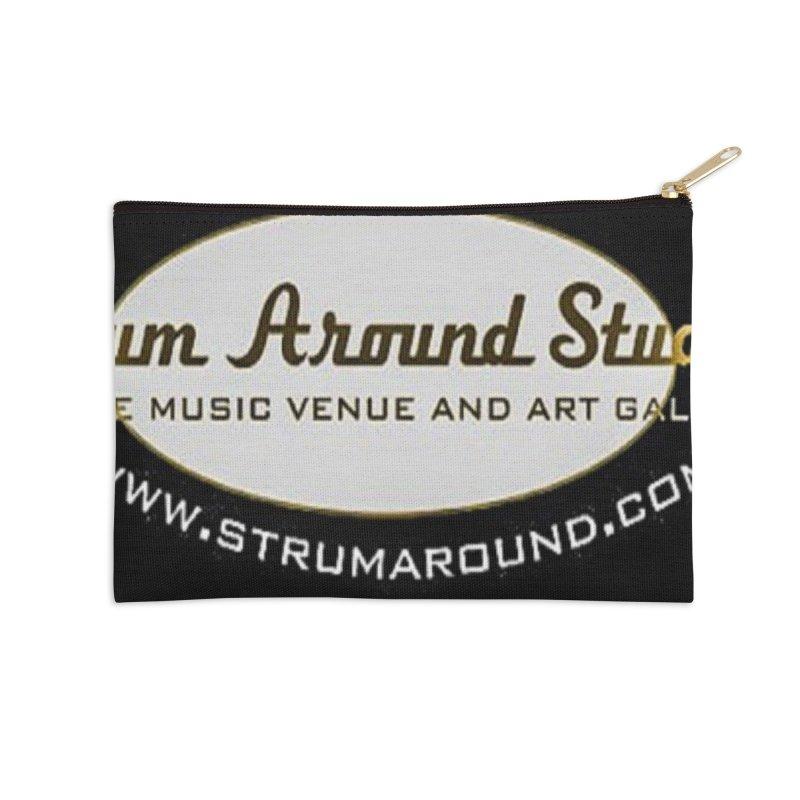 Strum Around Studio (LOGO) Accessories Zip Pouch by strumaround's Artist Shop