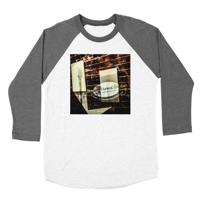 Strum and Mic design Women's Longsleeve T-Shirt by strumaround's Artist Shop
