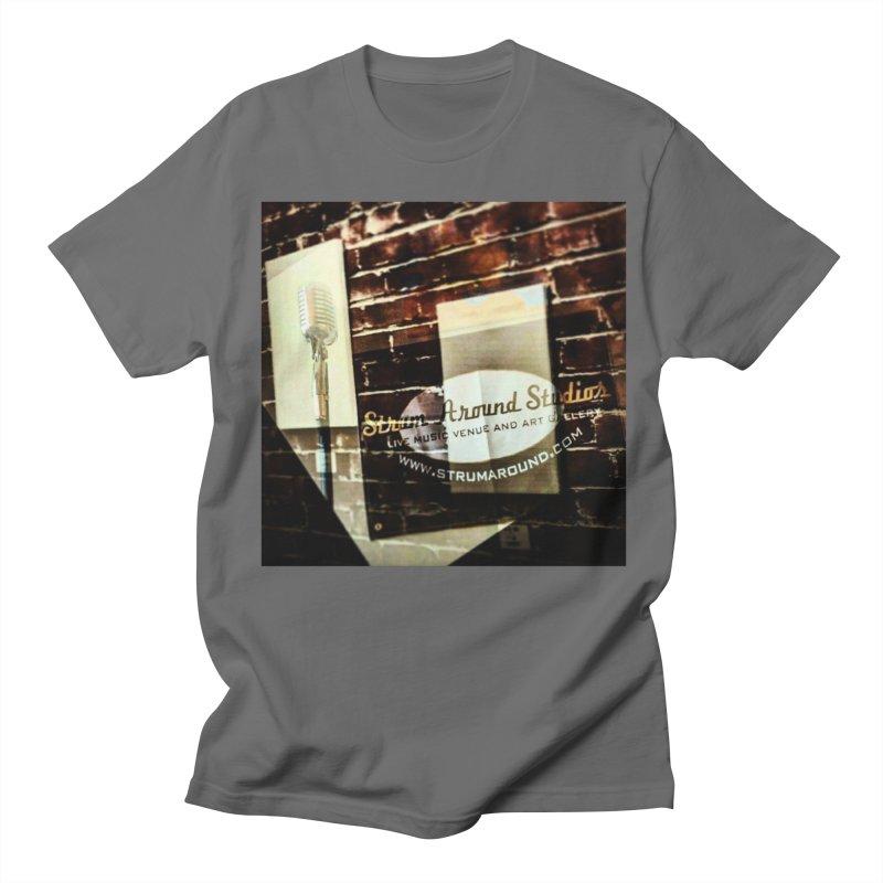 Strum and Mic design Men's T-Shirt by strumaround's Artist Shop