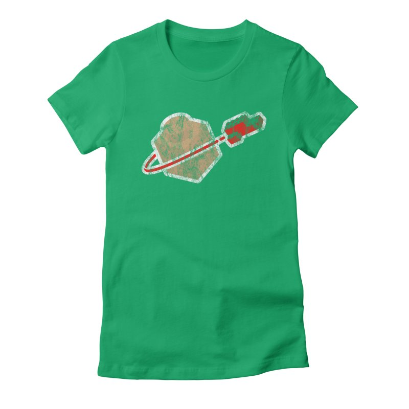 Brick Astronaut Women's Fitted T-Shirt by stuartwitts's Artist Shop