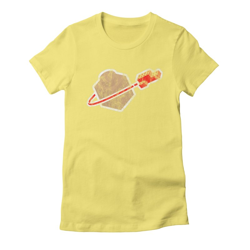 Brick Astronaut Women's Fitted T-Shirt by stuartwitts's Artist Shop