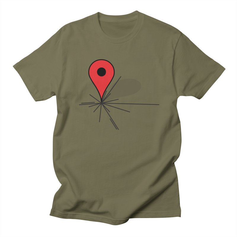 We Are Here (Pinned) Men's T-shirt by stuartwitts's Artist Shop