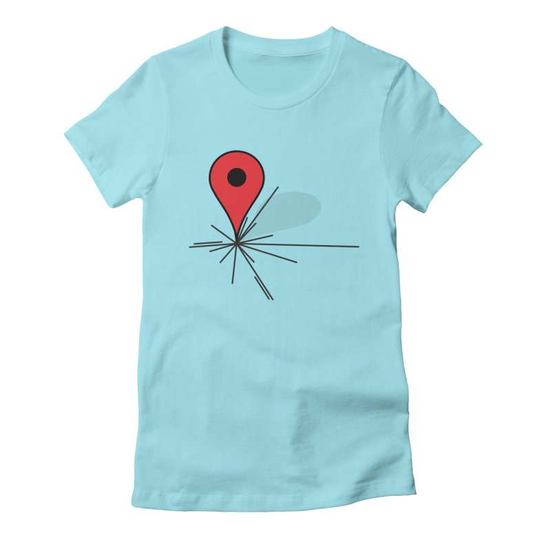 We Are Here (Pinned) Women's Fitted T-Shirt by stuartwitts's Artist Shop