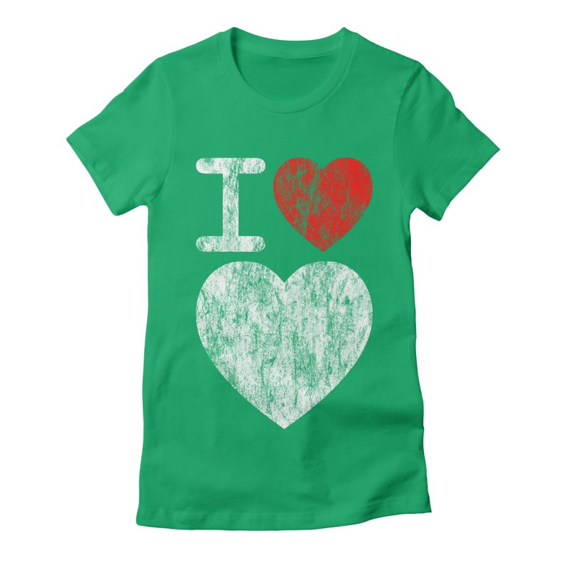 I Love LOVE! Women's Fitted T-Shirt by stuartwitts's Artist Shop