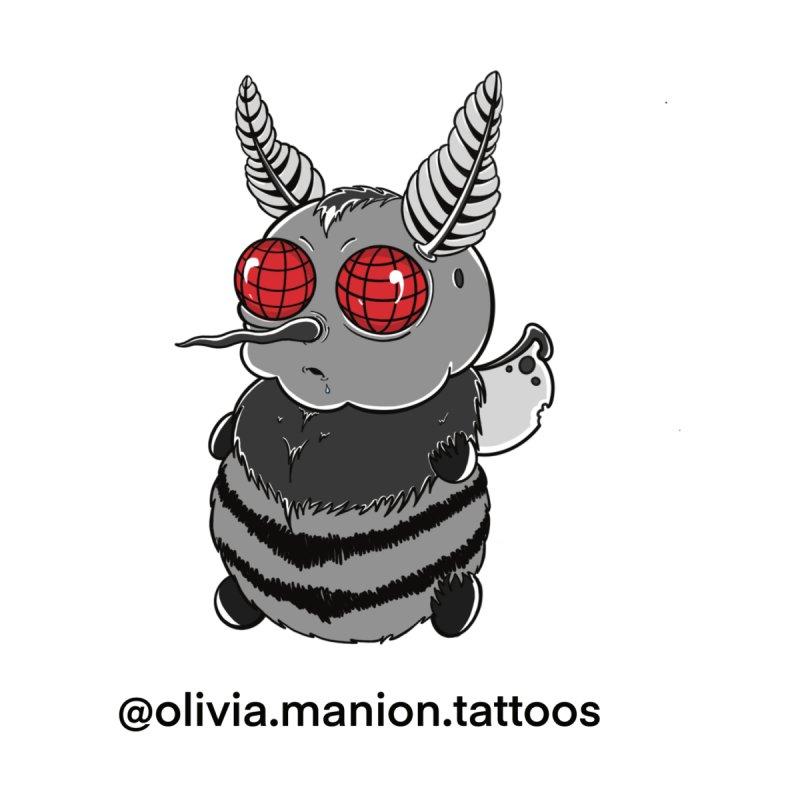 Baby Mothman Men's Pullover Hoody by Studio 617 Tattoos