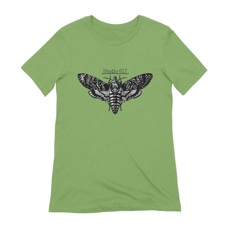 moth logo Women's Extra Soft T-Shirt by Studio 617's Artist Shop