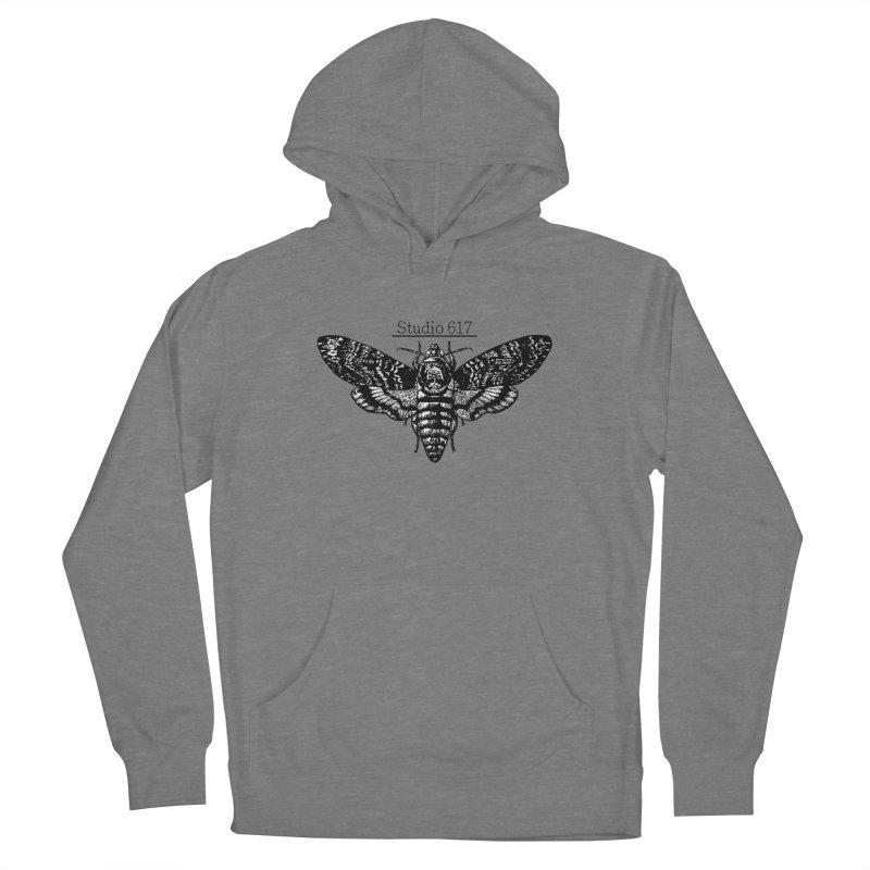 moth logo Women's Pullover Hoody by Studio 617's Artist Shop