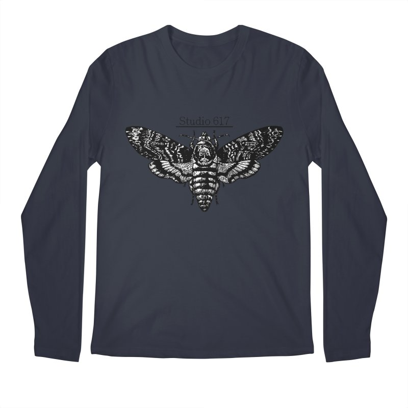 moth logo Men's Regular Longsleeve T-Shirt by Studio 617's Artist Shop