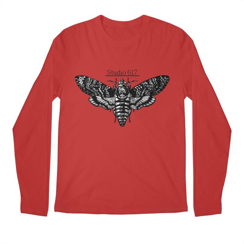 moth logo Men's Regular Longsleeve T-Shirt by Studio 617's Artist Shop