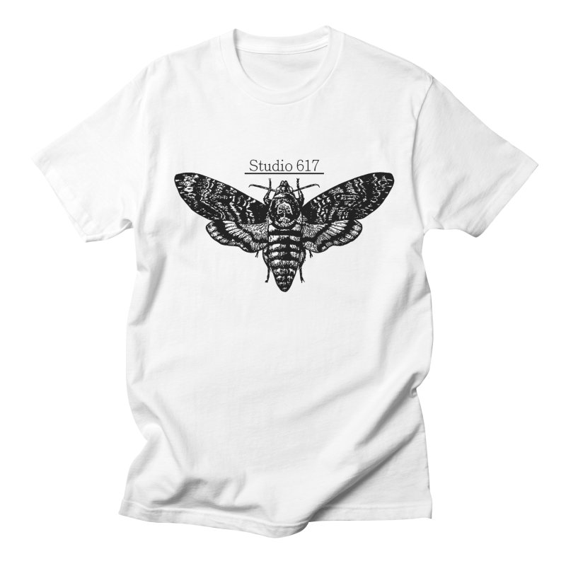 moth logo Men's Regular T-Shirt by Studio 617's Artist Shop