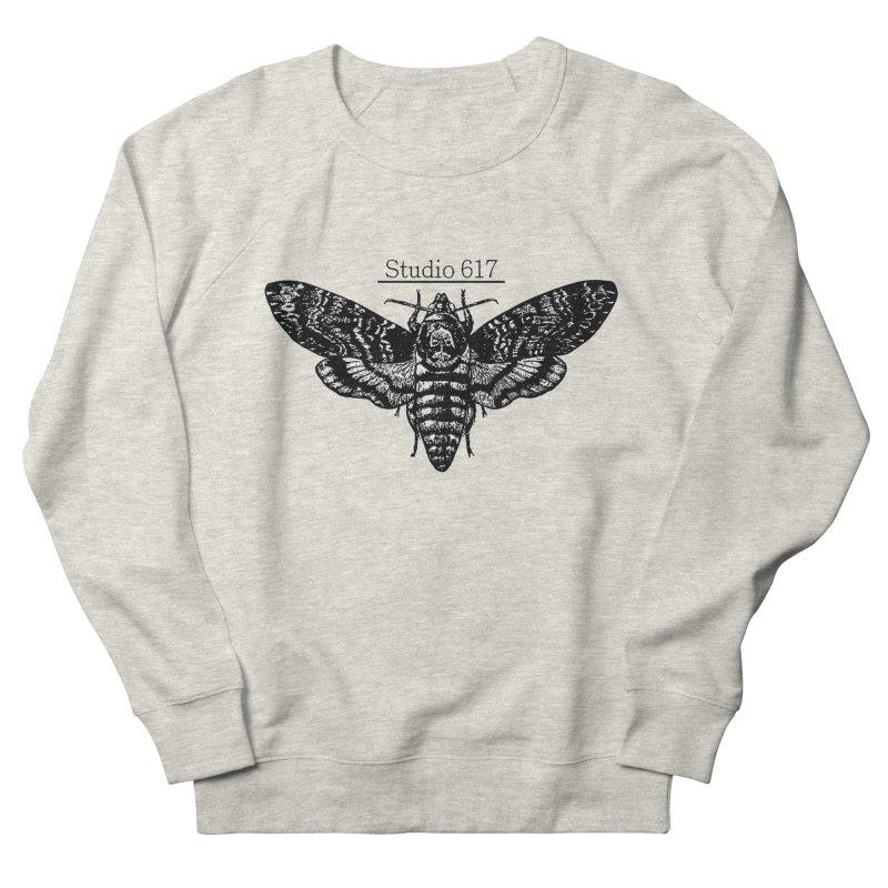 moth logo Men's French Terry Sweatshirt by Studio 617's Artist Shop