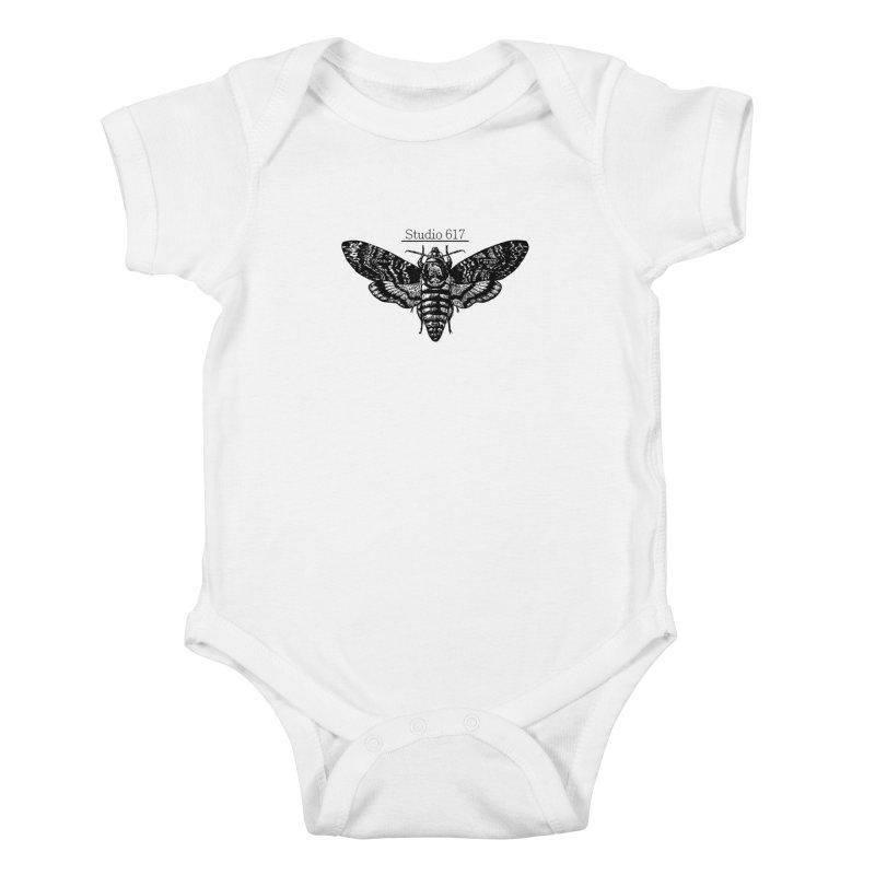moth logo Kids Baby Bodysuit by Studio 617's Artist Shop
