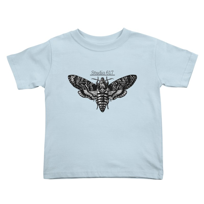moth logo Kids Toddler T-Shirt by Studio 617's Artist Shop