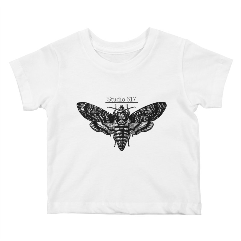 moth logo Kids Baby T-Shirt by Studio 617's Artist Shop