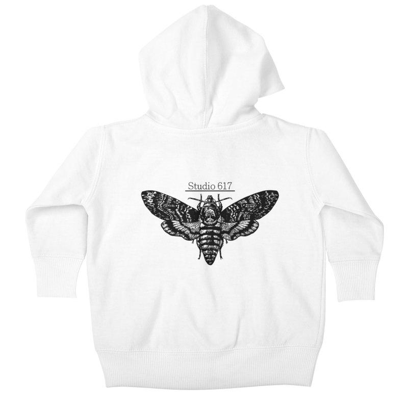 moth logo Kids Baby Zip-Up Hoody by Studio 617's Artist Shop