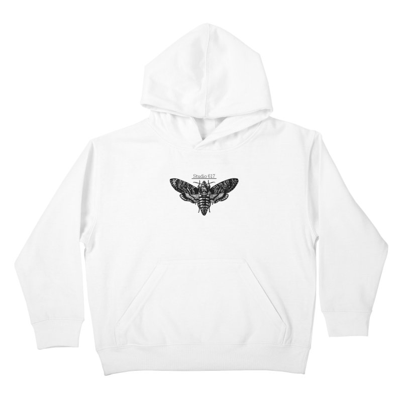 moth logo Kids Pullover Hoody by Studio 617's Artist Shop