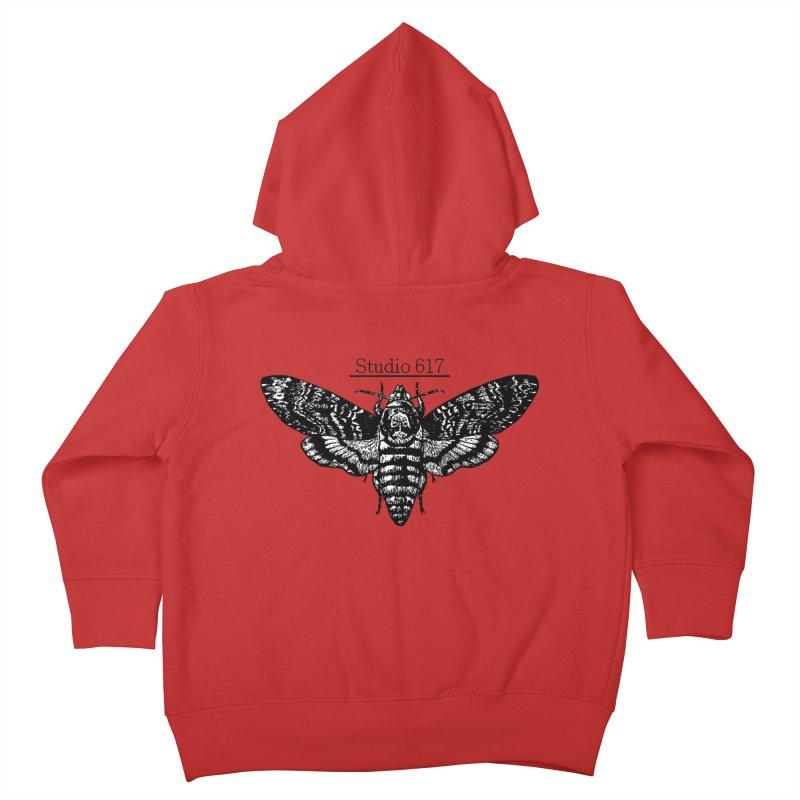 moth logo Kids Toddler Zip-Up Hoody by Studio 617's Artist Shop