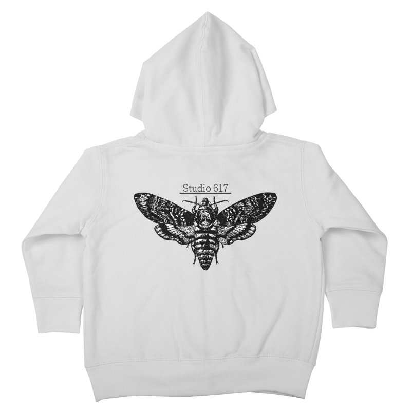 moth logo Kids Toddler Zip-Up Hoody by Studio 617's Artist Shop