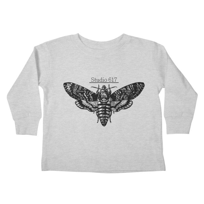 moth logo Kids Toddler Longsleeve T-Shirt by Studio 617's Artist Shop