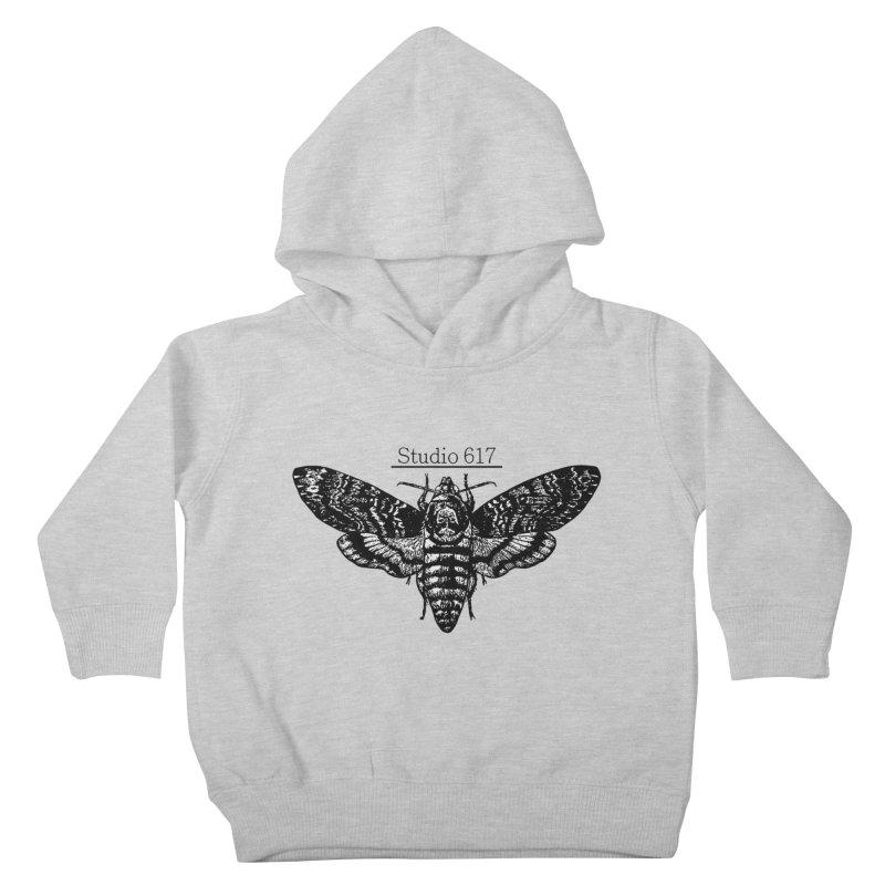 moth logo Kids Toddler Pullover Hoody by Studio 617's Artist Shop