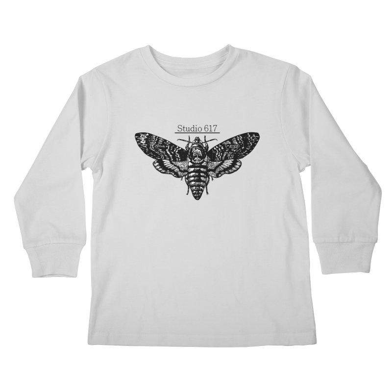 moth logo Kids Longsleeve T-Shirt by Studio 617's Artist Shop
