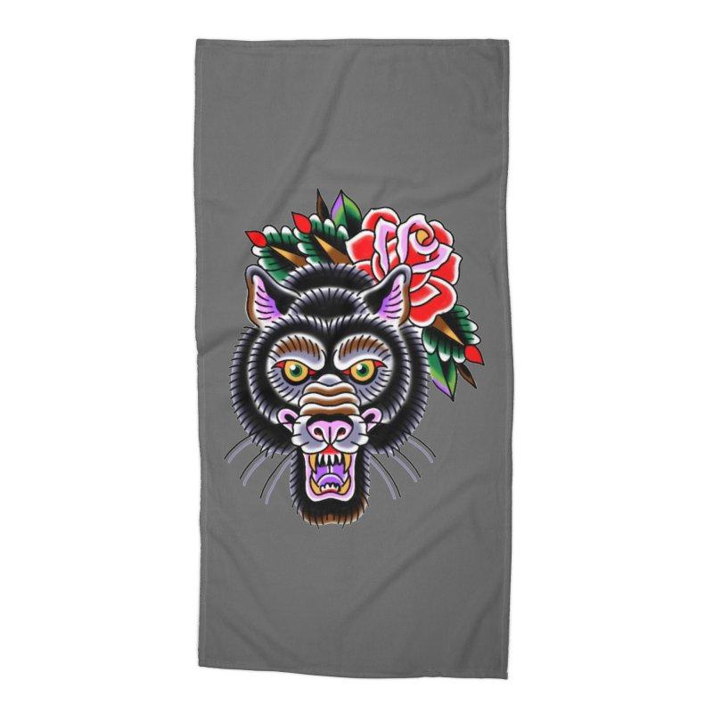Wolf Accessories Beach Towel by Studio 617's Artist Shop