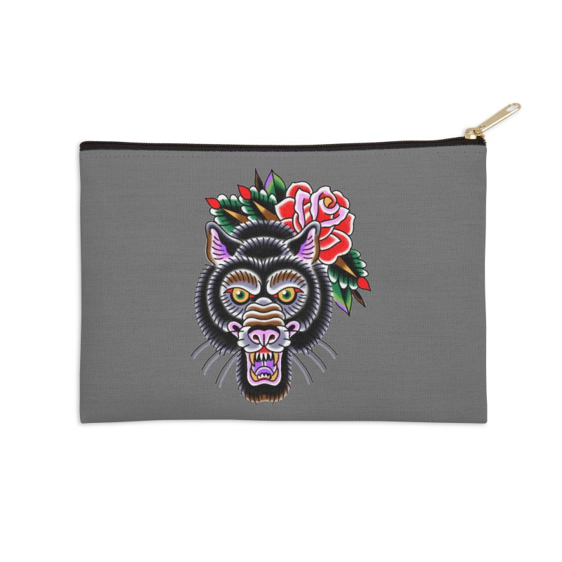 Wolf Accessories Zip Pouch by Studio 617's Artist Shop
