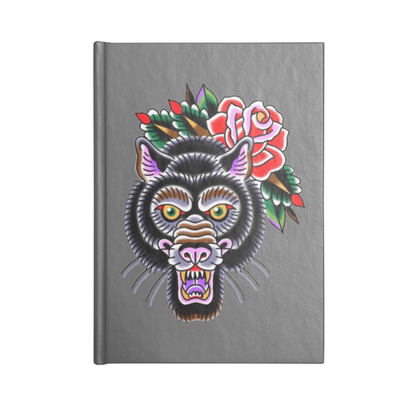 Wolf Accessories Lined Journal Notebook by Studio 617's Artist Shop