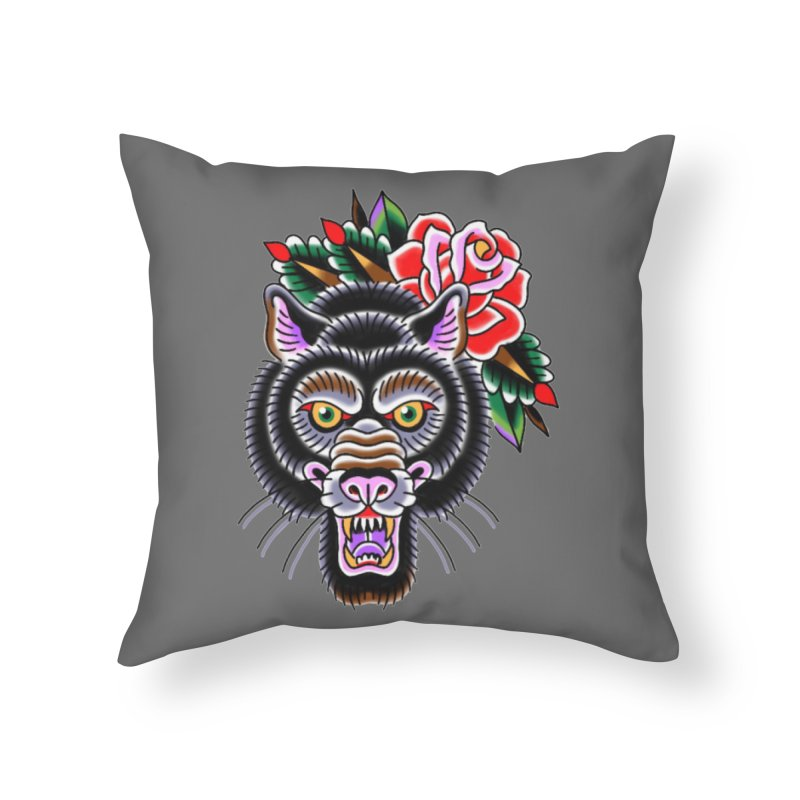 Wolf Home Throw Pillow by Studio 617's Artist Shop