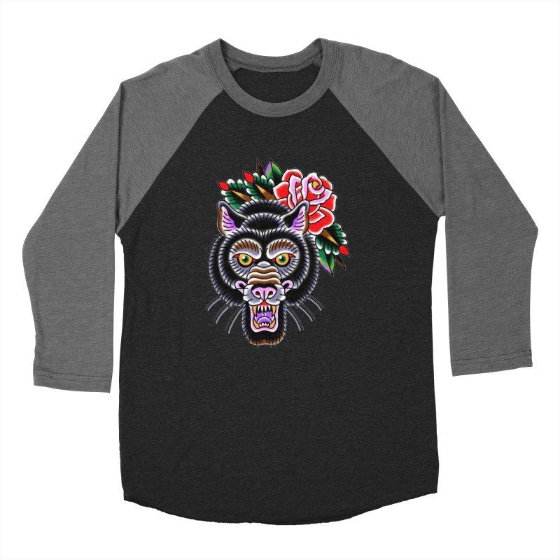 Wolf Women's Baseball Triblend Longsleeve T-Shirt by Studio 617's Artist Shop