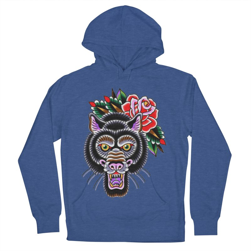 Wolf Women's French Terry Pullover Hoody by Studio 617's Artist Shop