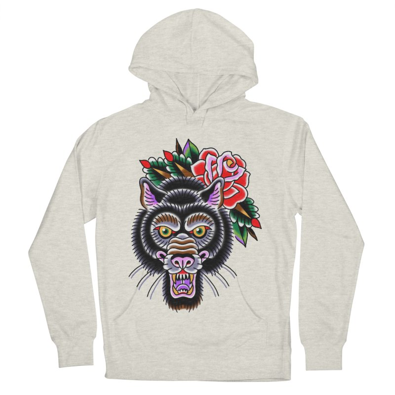 Wolf Men's French Terry Pullover Hoody by Studio 617's Artist Shop